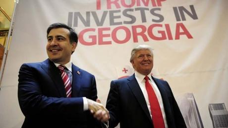"""Саакашвили похвастался давней дружбой с Трампом: кандидат называл губернатора """"одним из лучших мировых лидеров"""""""
