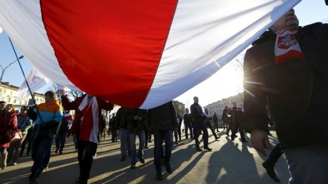 белоруссия, россия, российский флаг, митинг, общество