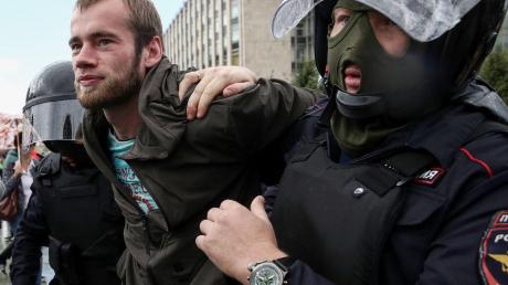 москва, протест, выборы, омон, задержания