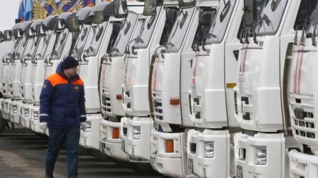 На рассвете в Донбасс отправится очередной российский гумконвой