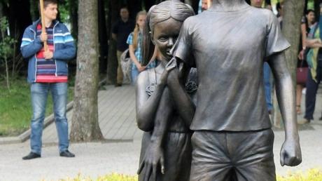 памятник, донецк, дети, донбасс, мальчик, днр, фото, ато, новости украины