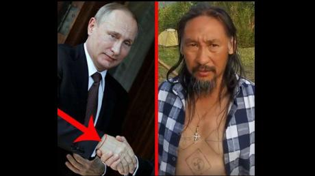 На руке Путина замечен оккультный символ: якутский боевой шаман шел в Москву не просто так