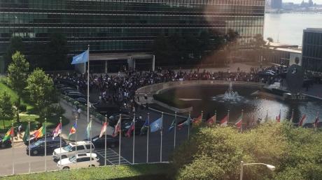 В Нью-Йорке срочно эвакуировали всех представителей МИД и гостей из штаб-квартиры ООН — в Сети опубликованы фотоснимки