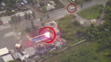 """Террористы """"ДНР"""" выпили, покурили и случайно подожгли склад с боеприпасами в Донецке: опубликованы яркие кадры момента взрыва склада"""
