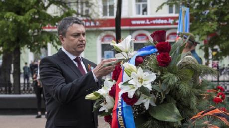 леонид пасечник, лнр, луганск, 9 мая, день победы, соцсети, салют, украина