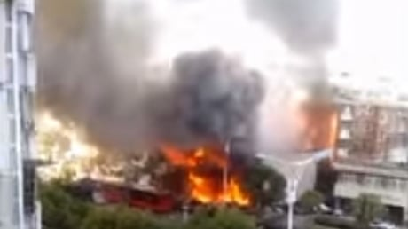 Появились кадры разрушительного взрыва, который прогремел в Китае, - магазин взлетел в воздух