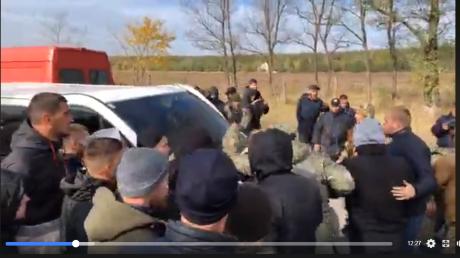 Украина, ООС, Разведение, Донбасс, Ветераны, Активисты, Стрельба