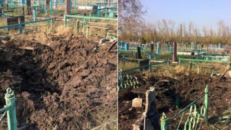 """макеевка, кладбище, взорванные могилы, обстрелы, """"днр"""", боевики, фото, украина"""
