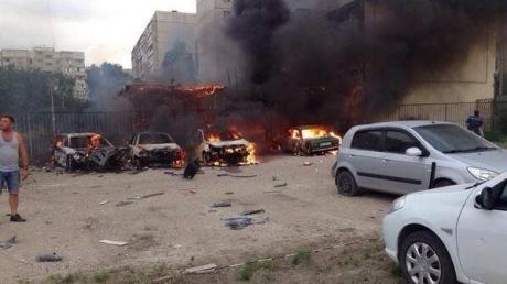 В Луганске обстрелу подверглись несколько районов: сгорел рынок и частный сектор