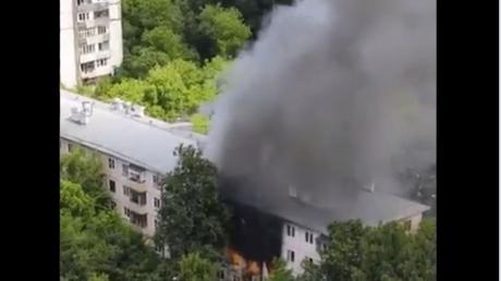 Москва, РФ, пожар, взрыв, дом, пострадавшие