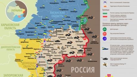 Карта АТО: Расположение сил в Донбассе от 17.03.2016