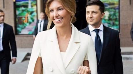 Украина, политика, супруга, елена, одесса, пляж, визит, зеленский