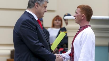 Порошенко, наградил, спасатель, день, президент, Украина, украинский