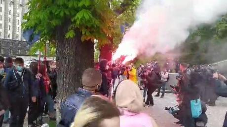 владиимр зеленский, национальный корпус, политика, андрей ермак, протест, видео