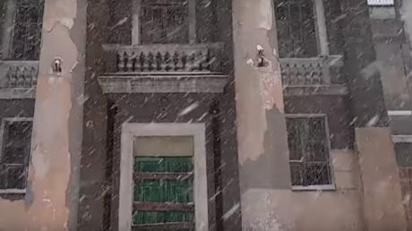 снегопад, горловка, донбасс, днр, соцсети, видео, война на донбассе