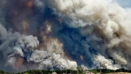 Новоайдар отрезан огнем: лесной пожар уничтожил больше сотни домов, число жертв растет