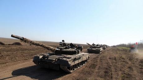 ВСУ, учения, техника, танки, Азовское море, приазовье