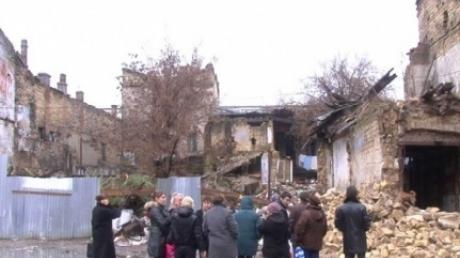 В центре Одессы обвалился двухэтажный дом