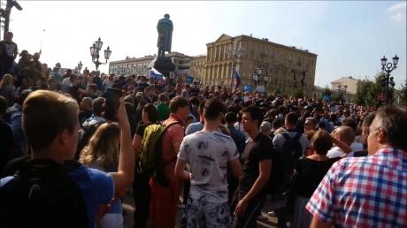 Россия, Митинги, Протесты, Стычки, Навальный, Путин, Пенсионная реформа, Курносова.