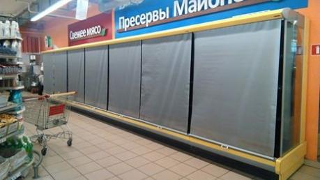 В Донецке в магазинах пропало мясо, на заправках - бензин