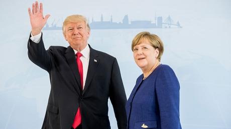 """Обсудили Донбасс и """"Минск"""": стали известны подробности встречи Трампа и Меркель перед G20"""