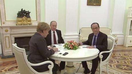 Переговоры Меркель, Путина и Олланда завершились