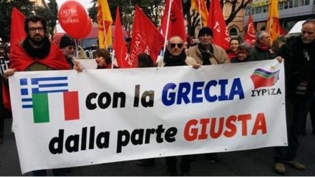 В Риме состоялся митинг в поддержку Греции и против войны на Донбассе