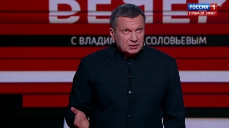 """Соловьев скатился на """"дно"""", нахамив украинцу в эфире: """"За две дырочки возьмем и оземь хлопнем!"""" - видео"""