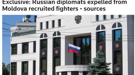 СМИ: Молдова выгнала 5 дипломатов из-за того, что они были шпионами ГРУ и вербовали боевиков на Донбасс на войну против Украины
