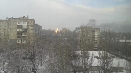 По всему Донецку работает тяжелая артиллерия - горсовет