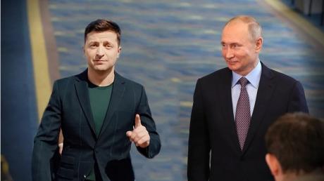 Зеленский, Путин, Новый, Год, поздравления, праздники, пресс-служба