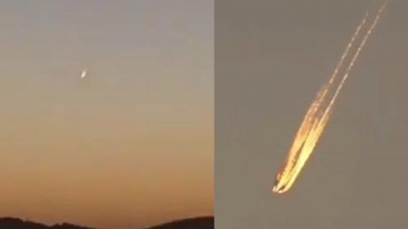 Возле Зоны 51 авиация США сбила корабль рептилоидов с Нибиру