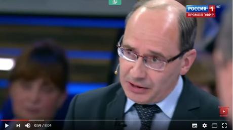 Кремлевская аудитория в бешенстве: в Сети появились кадры, как российский эксперт Шаблинский на россТВ потребовал вернуть Украине Крым и Донбасс