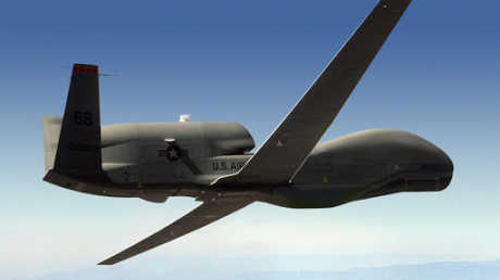 США, ВВС, БПЛА, RQ-4B-30 Global Hawk, Разведка, Полет, Черное море. Границы, РФ, ООС, Мониторинг