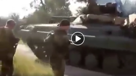 Так начиналась война: в Сети появилось редкое видео с российскими боевиками сразу после вторжения в Украину
