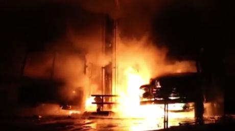 Подробности мощного взрыва на АЗС в Славянске 3 марта