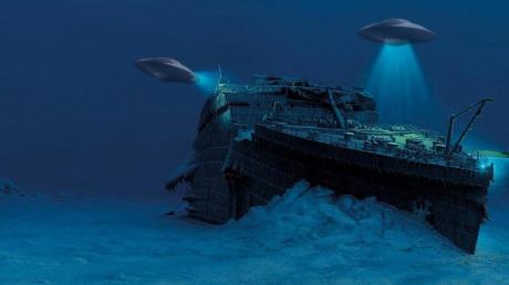 ʺТитаникʺ потопили пришельцы, которые построили с корпуса прочную подводную базу, невидимую для человечества