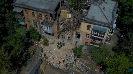Смертельный взрыв дома в Киеве в Голосеевском районе: опубликованы кадры разрушений с высоты птичьего полета