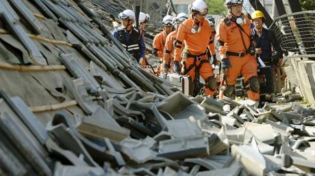 землетрясение в японии, остров кюсю, происшествия, префектура кумамото