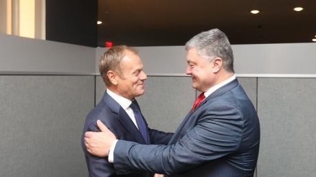 Призвал усилить давление на Россию: Порошенко встретился с Туском в рамках сессии в ООН