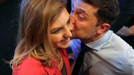 Украина, политика, зеленский, день независимости, супруга, Елена, фото