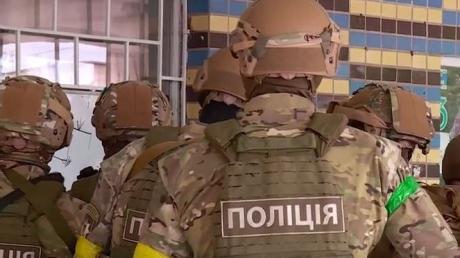 украина, киев, полиция, учения, корд, заложник