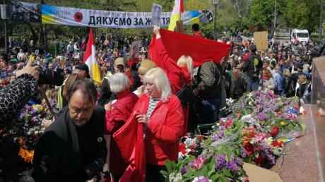 Украина, Одесса, 9 мая, День победы, Стычки.