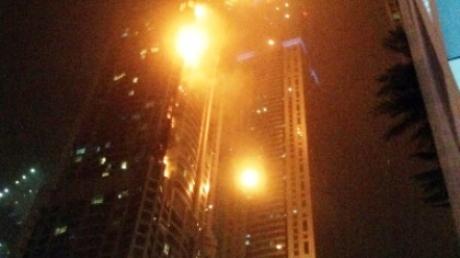 В Дубае потушили пожар в самом высоком небоскребе мира