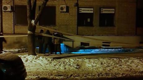В интернете появилось видео с места взрыва в Харькове от 08.02.2015.