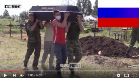 Под Дебальцево ВСУ был уничтожен террорист из Нижнего Новгорода Владимир Рудников: во время перезахоронения российского наемника в оккупированном Луганске сепаратисты обещали отомстить - кадры