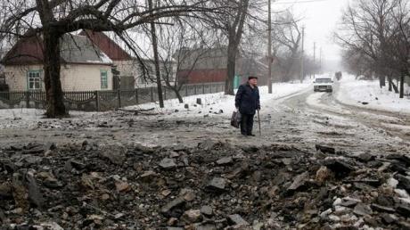 МВД Украины: В результате обстрелов Дебальцево сегодня погибли 5 человек