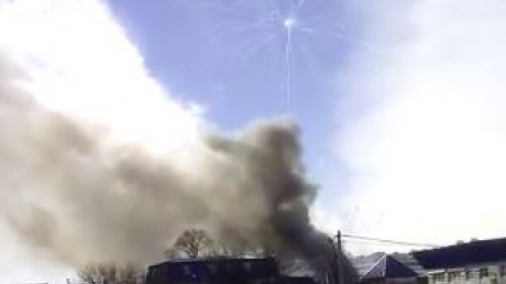 """В РФ едва не """"взлетел"""" на воздух склад взрывчатых изделий: с мощным пламенем борются бригады МЧС"""