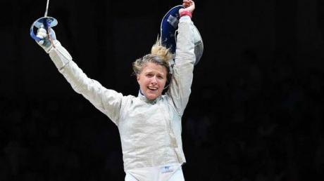 Гордость и краса Украины Ольга Харлан стала трехкратной чемпионкой мира по фехтованию на саблях - кадры