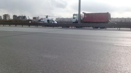 санкт-петербург, вертолет, грузовик, дтп, происшествия, фото, россия